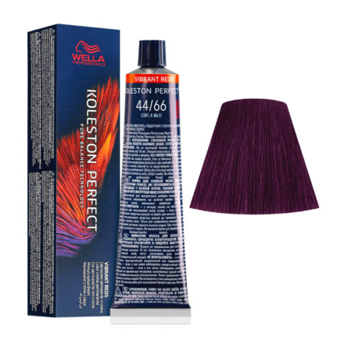 44/66 Castaño Medio Intenso Violeta Intenso Wella Koleston perfect Me+ Vibrant Reds 60ml