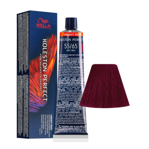 55/65 Castaño Claro Intenso Violeta Caoba Wella Koleston perfect Me+ Vibrant Reds 60ml