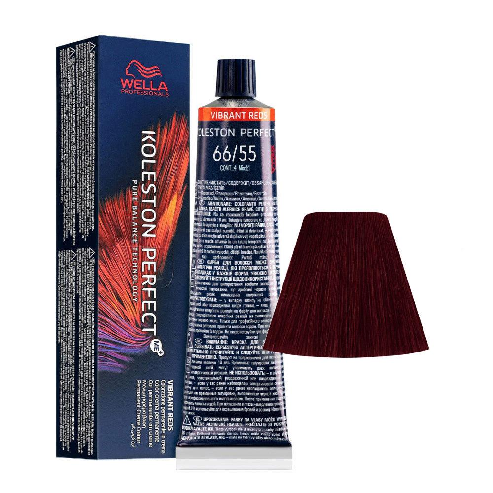 66/55 Rubio Oscuro Intenso Caoba Intenso Wella Koleston perfect Me+ Vibrant Reds 60ml