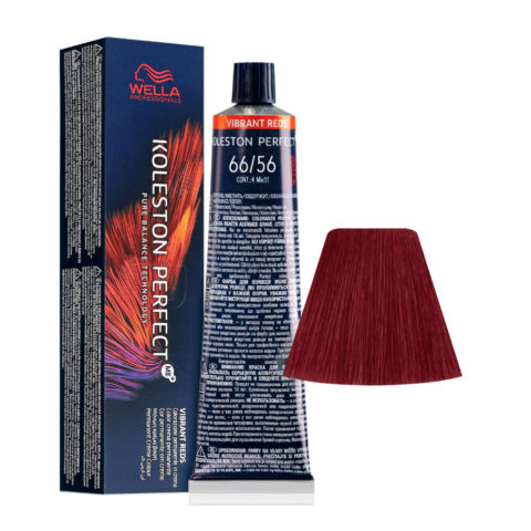 66/56 Rubio Oscuro Intenso Caoba Violeta Wella Koleston perfect Me+ Vibrant Reds 60ml