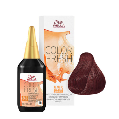 5/55 Castaño claro caoba intensa Wella Color fresh 75ml