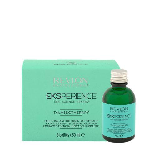 Eksperience Talassotherapy Serum Balancing Essential Extract 6x50ml - Para Cuero Cabelludo Graso
