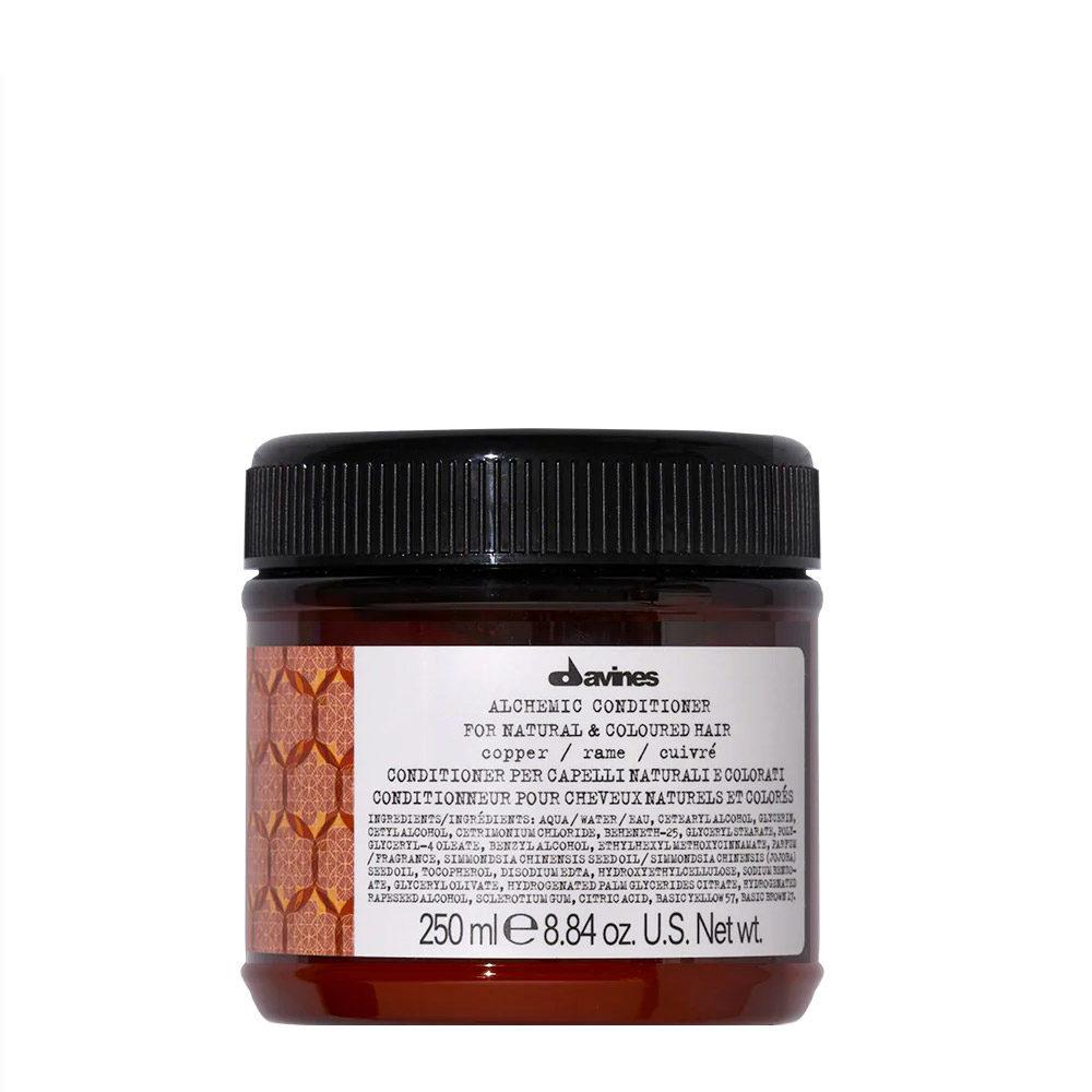 Davines Alchemic Conditioner Copper 250ml - Acondicionador Coloreado Para Cabello Cobrizo