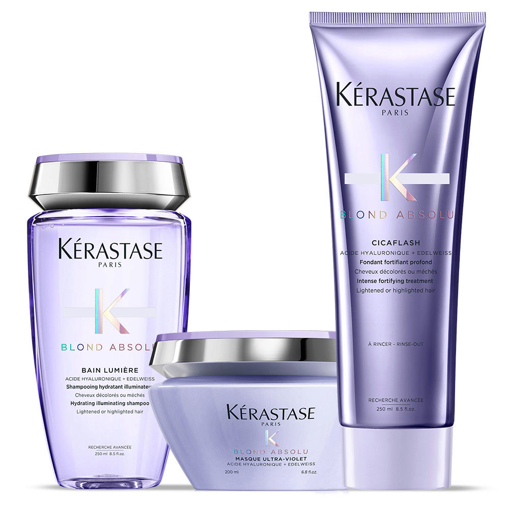 Kerastase Blond absolu Kit Champú 250ml Acondicionador 250ml Mascara 200ml