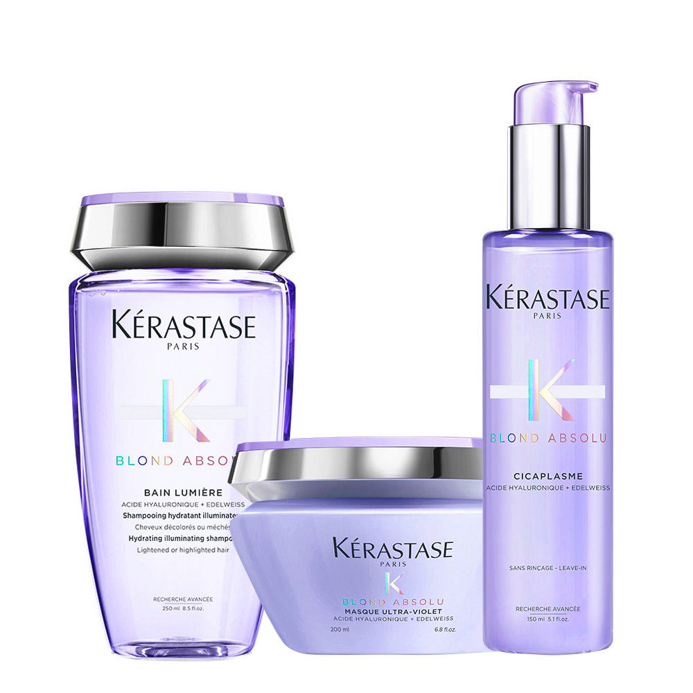 Kerastase Blond Absolu Kit Champú 250ml Mascarilla 200ml Siero 150ml