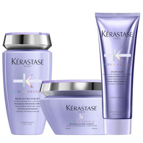 Kerastase Blond absolu Kit Champú Anti Amarillo 250ml Acondicionador 250ml Mascara 200ml