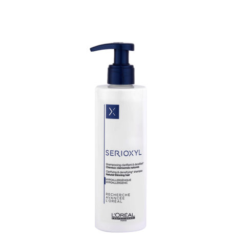 L'Oreal Serioxyl Clarifying densifying Shampoo 250ml - redensificante para cabello natural