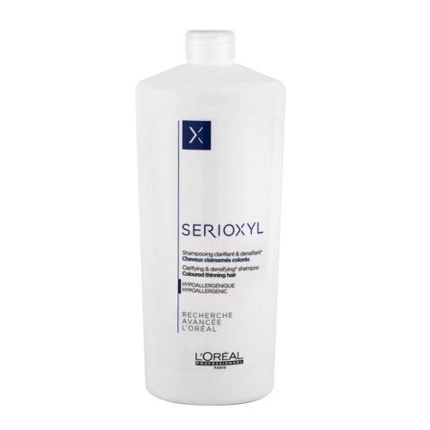 L'Oreal Serioxyl Clarifying densifying Shampoo 1000ml - Redensificante para cabello teñido