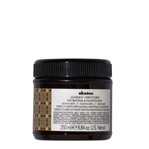 Davines Alchemic Conditioner Chocolate 250ml - Acondicionador coloreado para cabello negro