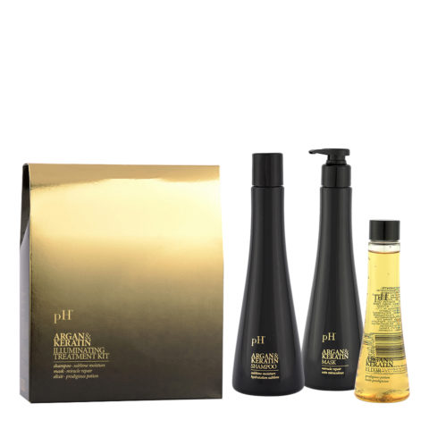 Ph Laboratories Argan & Keratin Illuminating Treatment kit -Kit Para Cabellos Opacos