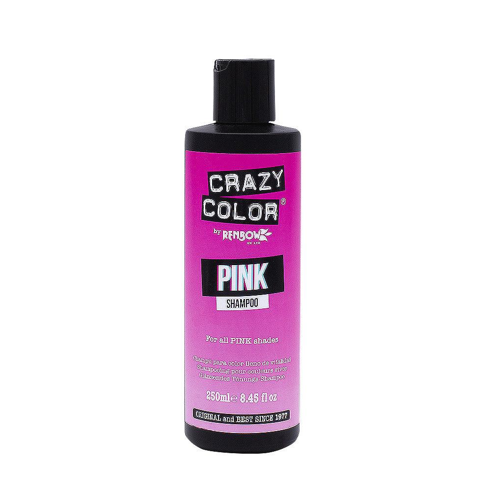 Crazy Color Shampoo Pink 250ml - champu para cabello rosa