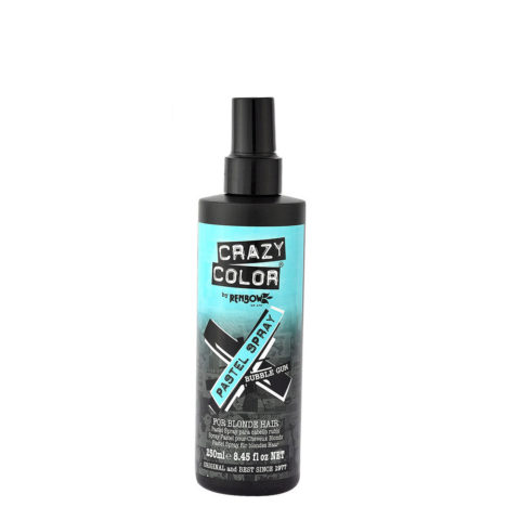 Crazy Color Pastel Spray Bubble Gum 250ml - Spray color azul pastel temporal