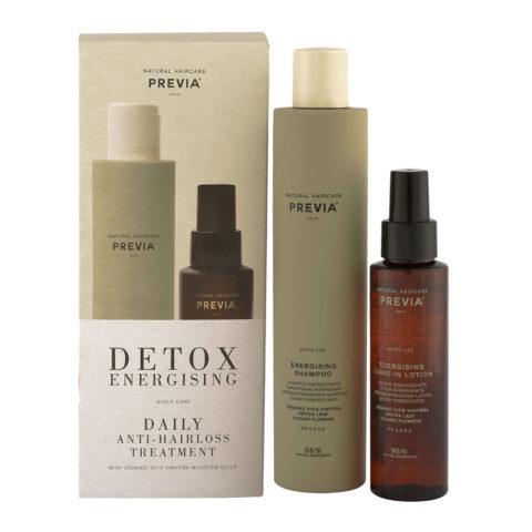 Previa Detox Energising Daily Antihairloss Treatment Shampoo 250ml + Lotion 100ml