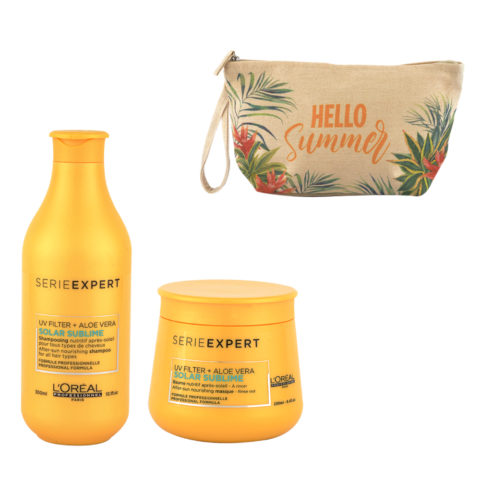 L'Oreal Solar Sublime Kit Shampoo 300ml Masque 250ml - bolsa en regalo