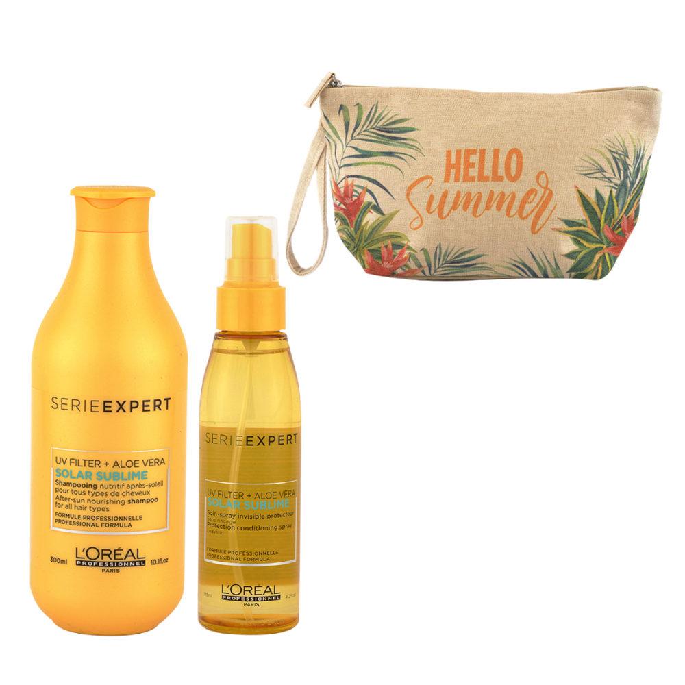 L'Oreal Solar Sublime Kit Shampoo 300ml Spray 125ml - bolsa en regalo