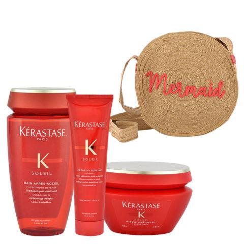 Kerastase Soleil Kit Shampoo 250ml Creme UV Sublime 150ml Masque 200ml - bolso en regalo