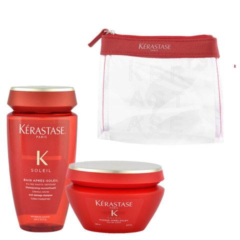 Kerastase Soleil Kit Shampoo Après Soleil 250ml Masque Après Soleil 200ml - bolso en regalo