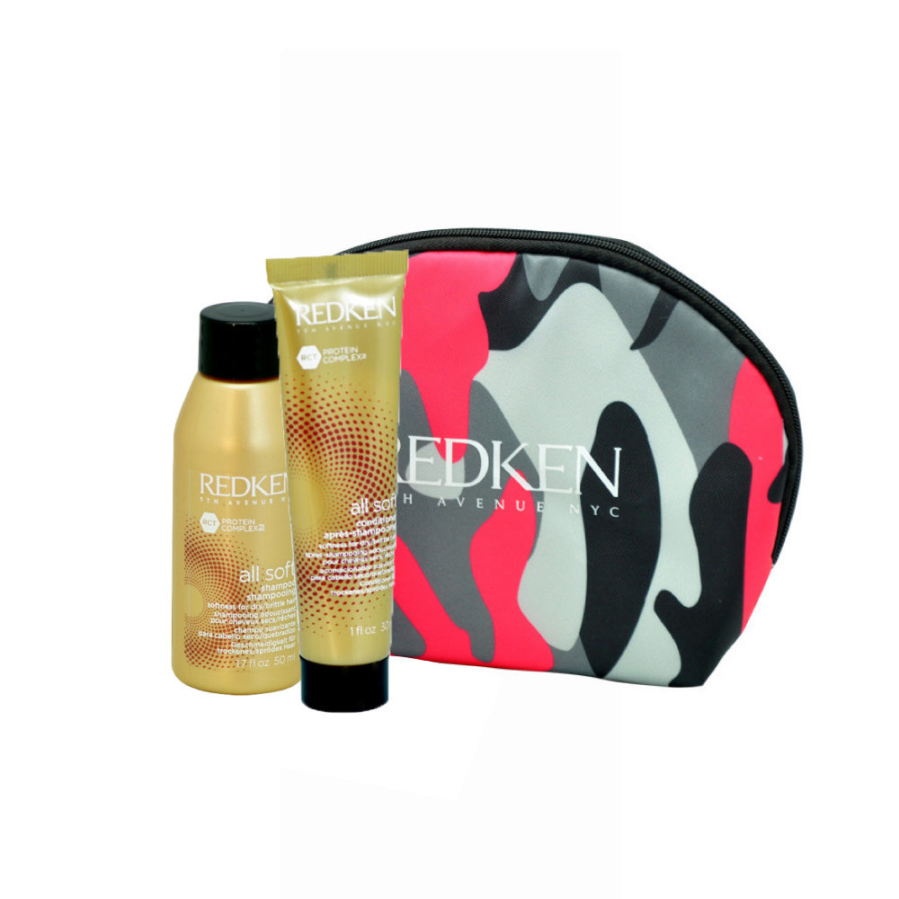 Redken Kit All soft Shampoo 50ml Conditioner 30ml bolso en regalo