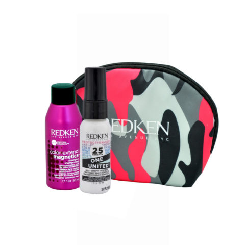 Redken Kit Color extend magnetics Shampoo 50ml  One United All in one spray 30ml bolsa en regalo