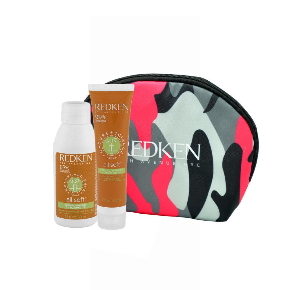 Redken Nature + Science All Soft Softening Shampoo 50ml Conditioner 30ml bolsa en regalo