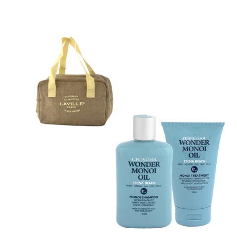Tecna Beach Wonder Monoi kit Shampoo 250ml Treatment 150ml bolsa térmica gratis