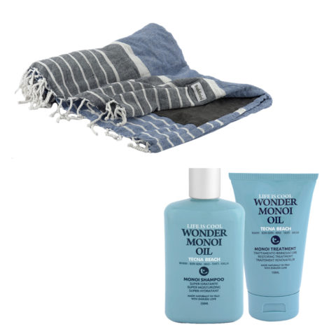Tecna Beach Wonder Monoi kit Shampoo 250ml Treatment 150ml + toalla de playa gratuita Baldinini