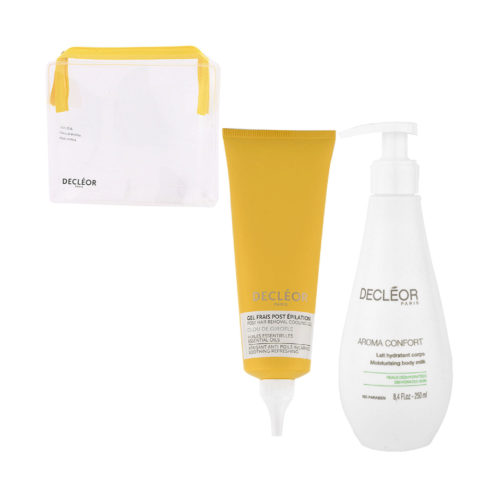 Decléor Bodycare Kit Post Hair Removal Cooling gel Clove 125ml Lait Hydratant 250ml - pochette en regalo