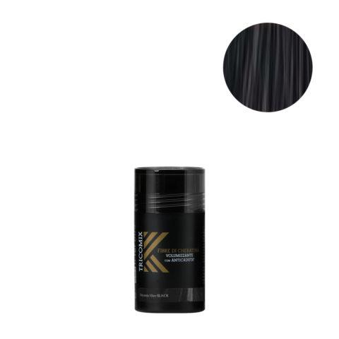 Tricomix Fibre Black 12gr - Fibras De Queratina Con Efecto Voluminizador Y Anticaída Negro