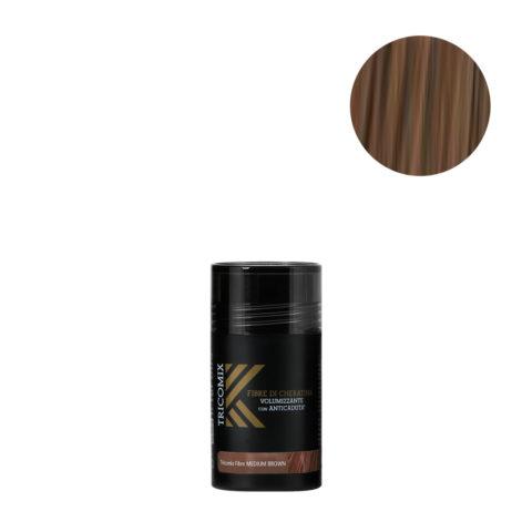 Tricomix Fibre Medium Brown 12gr - Fibras De Queratina Con Efecto Voluminizador Y Anticaída Castaño Medio