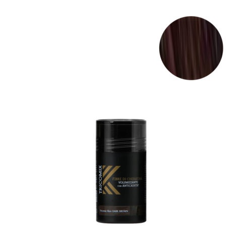 Tricomix Fibre Dark Brown 12gr - Fibras De Queratina Con Efecto Voluminizador Y Anticaída Castaño Oscuro