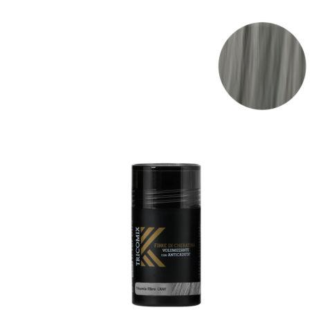 Tricomix Fibre Gray 12gr - Fibras De Queratina Con Efecto Voluminizador Y Anticaída Gris Medio