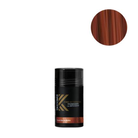 Tricomix Fibre Auburn 12gr - Fibras De Queratina Con Efecto Voluminizador Y Anticaída Rojo Oscuro