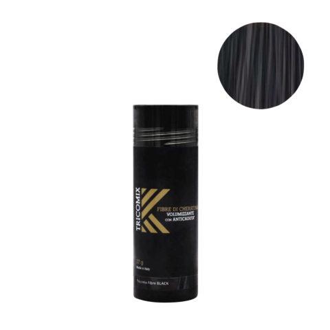 Tricomix Fibre Black 27gr - Fibras De Queratina Con Efecto Voluminizador Y Anticaída Negro