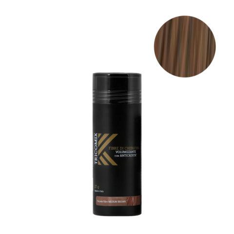Tricomix Fibre Medium Brown 27gr - Fibras De Queratina Con Efecto Voluminizador Y Anticaída Castaño Medio