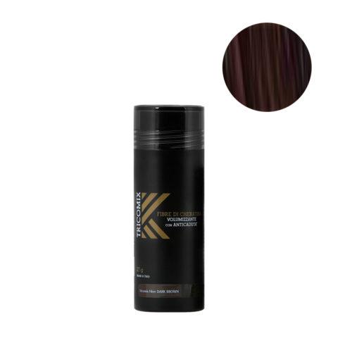 Tricomix Fibre Dark Brown 27gr - Fibras De Queratina Con Efecto Voluminizador Y Anticaída Castaño Oscuro