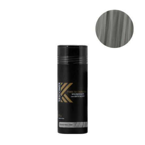 Tricomix Fibre Gray 27gr - Fibras De Queratina Con Efecto Voluminizador Y Anticaída Gris Medio