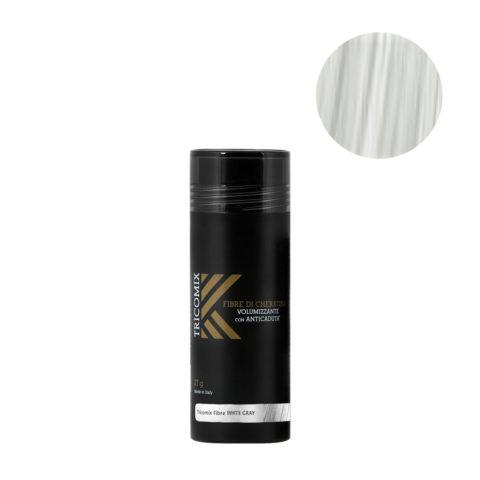 Tricomix Fibre White Gray 27gr - Fibras De Queratina Con Efecto Voluminizador Y Anticaída Gris Claro / Blanco