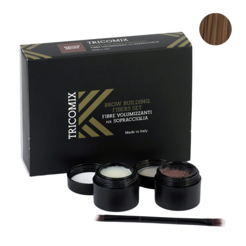 Tricomix Brow Medium Brown 1,2g + 2g - Fibras Voluminizadoras Para Cejas - Castaño medio