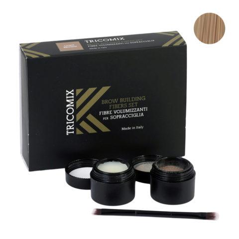 Tricomix Brow Light Brown 1,2g + 2g - Fibras Voluminizadoras Para Cejas - Castaño claro
