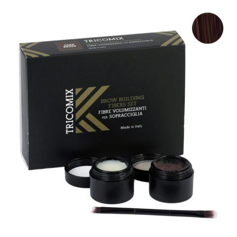 Tricomix Brow Dark Brown 1,2g + 2g - Fibras Voluminizadoras Para Cejas - Castaño oscuro
