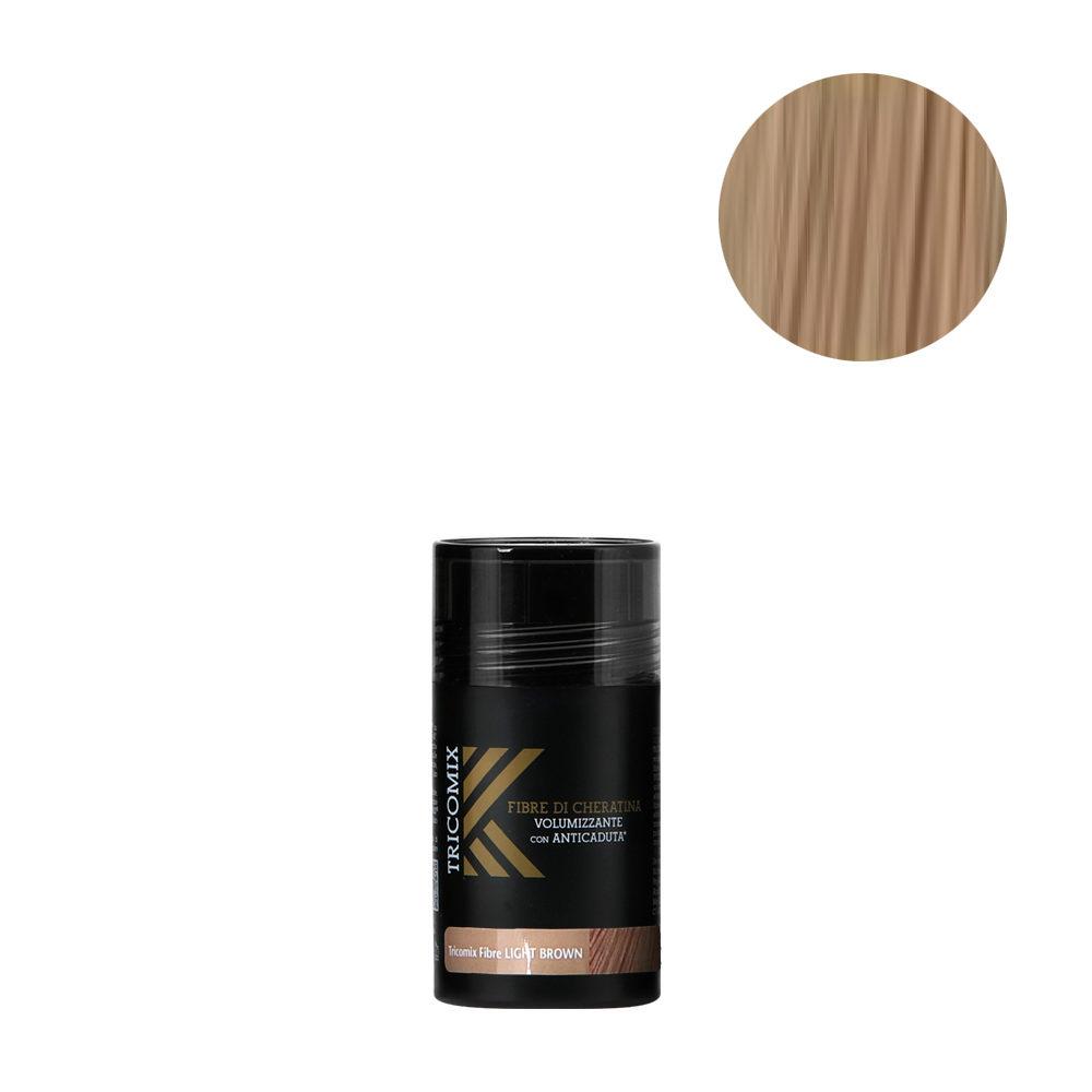 Tricomix Fibre Light Brown 12gr - Fibras De Queratina Con Efecto Voluminizador Y Anticaída Castaño Claro