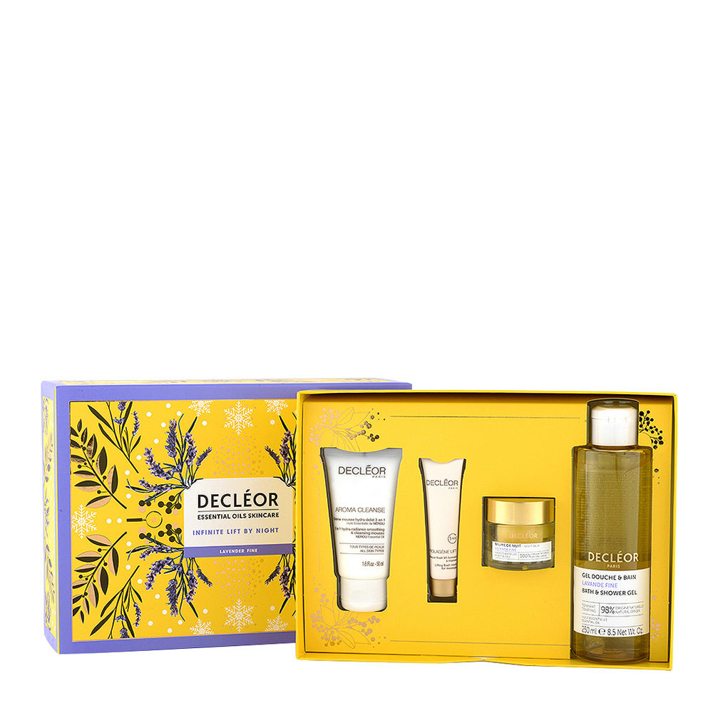 Decléor Essential Oils Skincare Infinite Lift By Night Lavender Fine - Kit 4 Productos