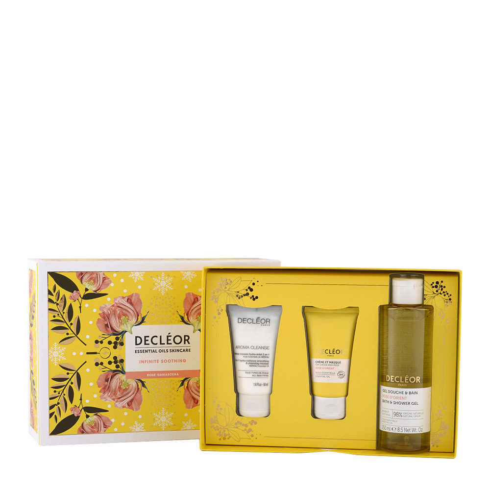 Decléor Essential Oils Skincare Infinite Soothing Rose Damascena - Kit 3 Productos