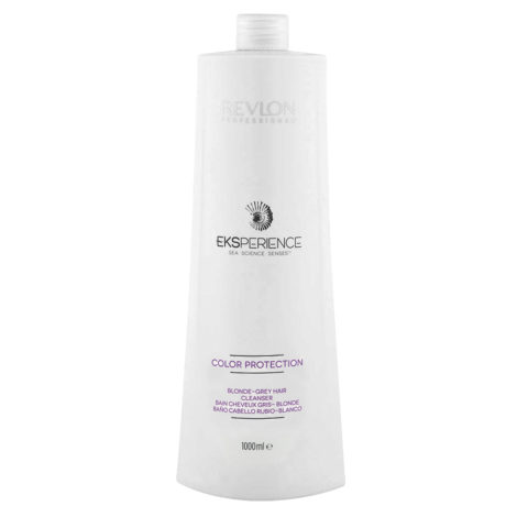Eksperience Color Protection Blonde Grey Shampoo 1000ml - Para Cabello Rubio, Gris O Blanco