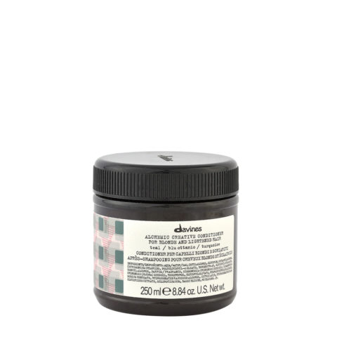 Davines Alchemic Creative Conditioner Teal 250ml - Bàlsamo De Color Verde Azulado