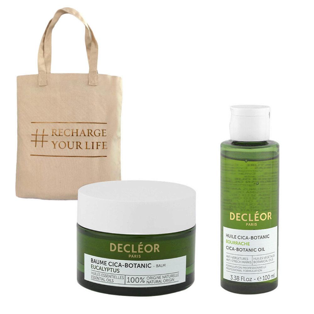 Decléor Body Care Cica-Botanic Kit Baume Eucalyptus 50ml Huile 100ml - bolsa en regalo