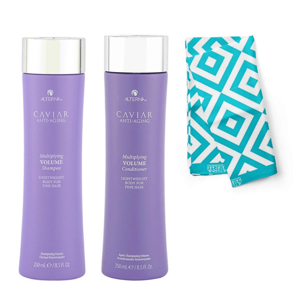 Alterna Caviar Multiplying Volume Kit Shampoo 250ml Conditioner 250ml - Pareo en regalo