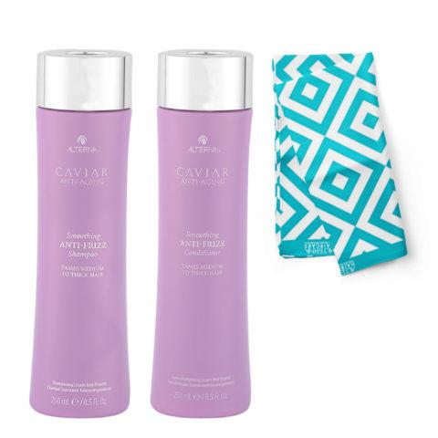 Alterna Caviar Smoothing Anti Frizz Kit Shampoo 250ml Conditioner 250ml - Pareo en regalo