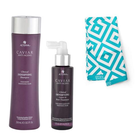 Alterna Caviar Clinical Kit Shampoo 250ml Densifying Leave in Root Treatment 125ml - Pareo en regalo