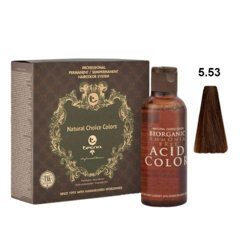 5.53 Castaño claro wood fuerte Tecna NCC Biorganic acid color 3x130ml